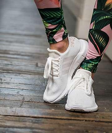 adidas Swift White & Rose Gold Shoes