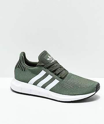 adidas Swift zapatos en verde, blanco y negro