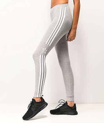 adidas Trefoil 3-Stripe Grey Leggings