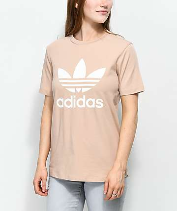 adidas Trefoil Ash Pearl & White T-Shirt