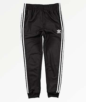 adidas Trefoil Black & White Jogger Pants