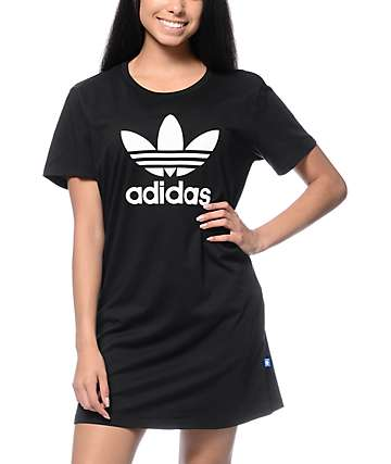 adidas Trefoil Black T-Shirt Dress