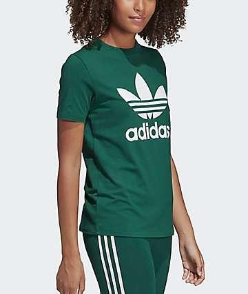 adidas Trefoil Collegiate Green T-Shirt