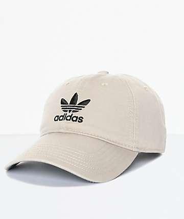 adidas Trefoil Curved Bill Khaki Strapback Hat