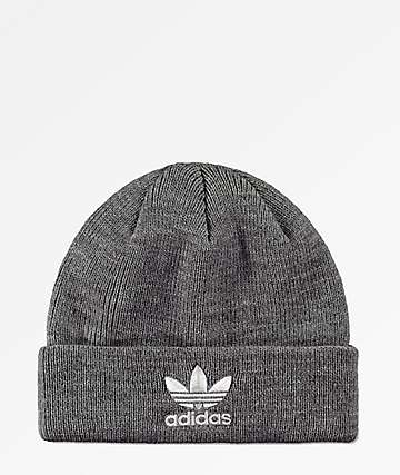 2465bdf20e3f0 adidas Trefoil Heather Grey Beanie