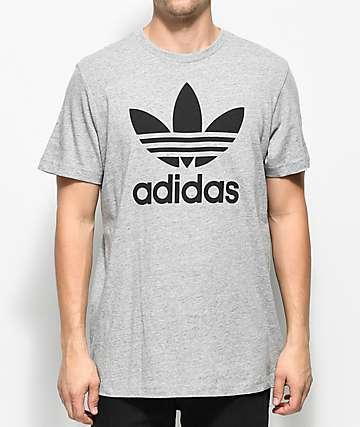 adidas Trefoil Heather Grey T-Shirt