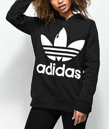 adidas Trefoil Logo Black Hoodie