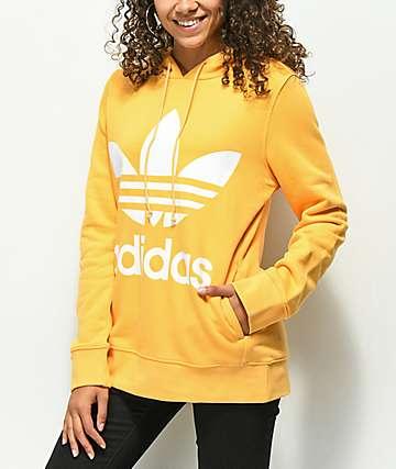 adidas Trefoil Logo sudadera con capucha naranja