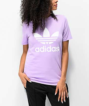 adidas Trefoil Purple Glow T-Shirt