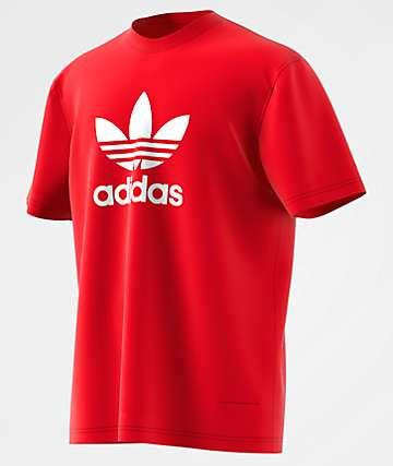adidas Trefoil Red T-Shirt