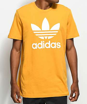 adidas Trefoil Tactile camiseta en color amarillo