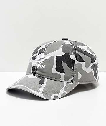 adidas Trefoil White Forest Camo Strapback Hat