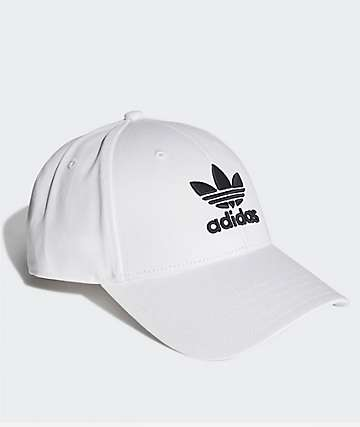adidas Trefoil White Strapback Hat