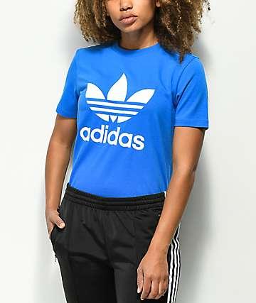 adidas Trefoil camiseta azul real
