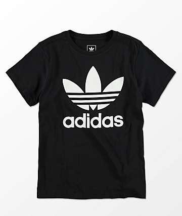 adidas Trefoil camiseta negra para niños