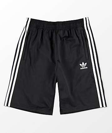 adidas Trefoil shorts de chándal en negro para niños