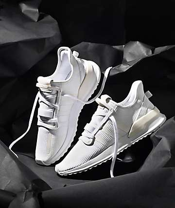 adidas U Path Run All White Shoes