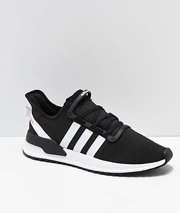 adidas U Path Run Black, White & Pink Shoes