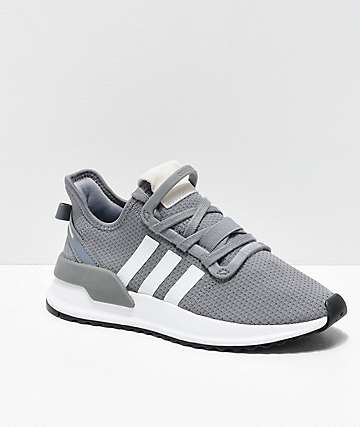 adidas U Path Run Grey & White Shoes