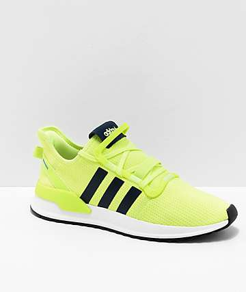 adidas U Path Run Highlighter Yellow & White Shoes