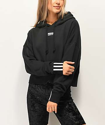adidas Vocal Black Crop Hoodie