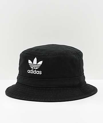 adidas Washed Black Bucket Hat