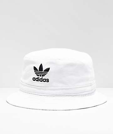 adidas Washed White Bucket Hat