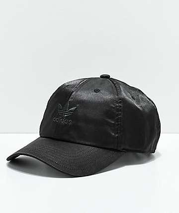 adidas Women's Original Black Satin Strapback Hat