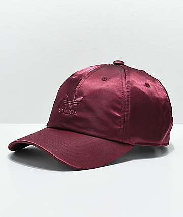 adidas Women's Original Burgundy Satin Strapback Hat