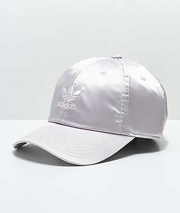 a52d70427fd11 adidas Women s Original Ice Purple Satin Strapback Hat