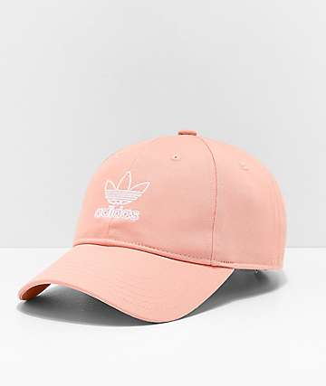 adidas Women s Originals Relaxed Outline Pink Strapback Hat d0860819670f