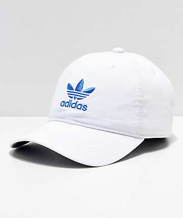 adidas Women s Originals White   Blue Strapback Hat 9d3babd66a52