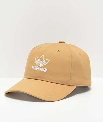 adidas Women s Relaxed Outline Logo Gold Strapback Hat 268aa8d0fdd