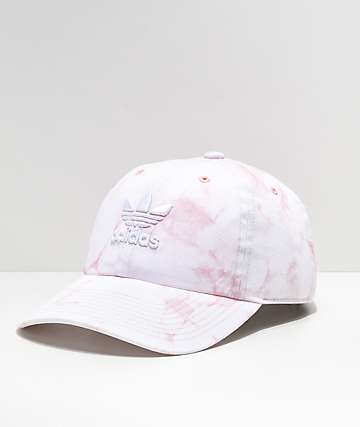 d6f65a1b56c adidas Women s Relaxed Pink   White Tie Dye Strapback Hat · Quick View