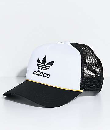adidas Women's White & Black Trucker Hat