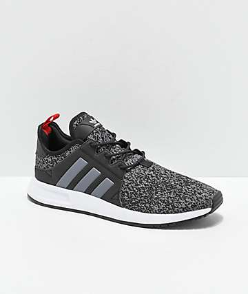 9e308cc83 adidas Xplorer Black, Heather Grey & Red Shoes