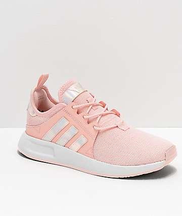 adidas Xplorer zapatos metálicos y rosas