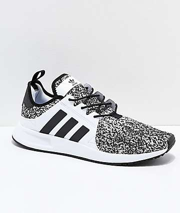 adidas Xplorer zapatos negros y blancos y grises