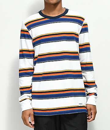 adidas Yarn Dye Striped Knit Long Sleeve Shirt