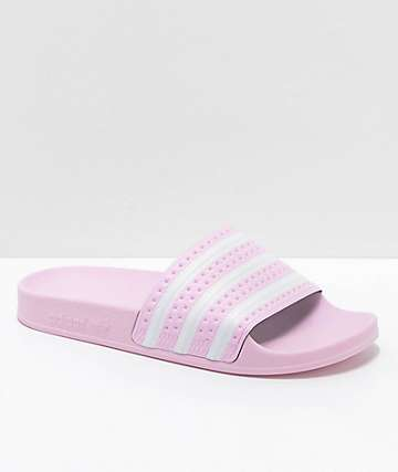 adidas Youth Adilette Pink Slide Sandals