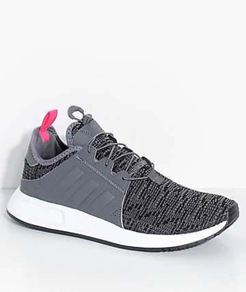 adidas Youth Xplorer Grey & White Shoes