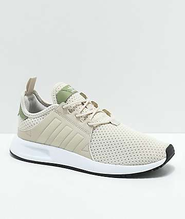 adidas Youth Xplorer Tan, Green & White Shoes