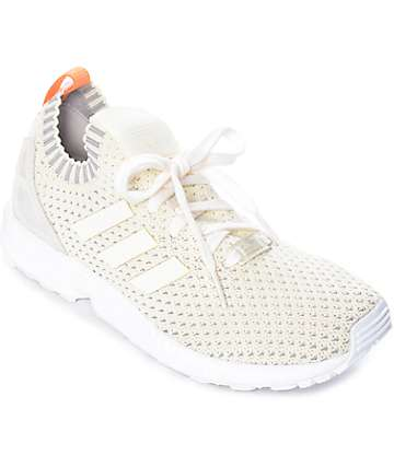 adidas ZX Flux Primeknit zapatos blancos