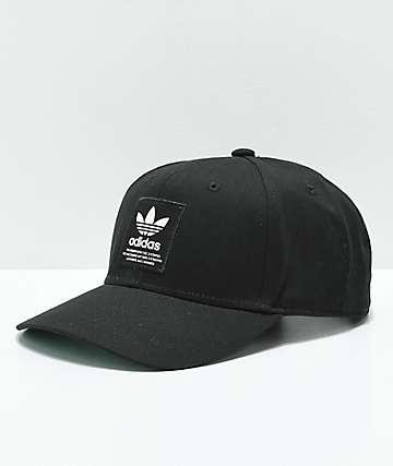 adidas gorra negra con parche de Trefoil 4aa7aba6f4e