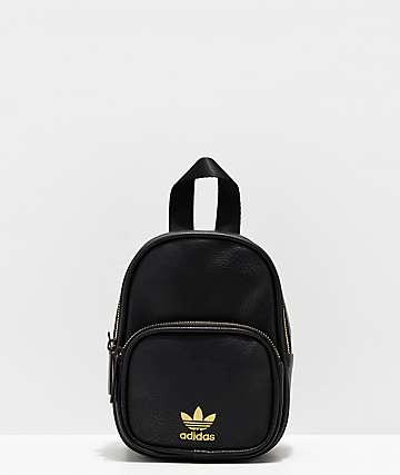 adidas mini mochila negra de cuero sintético
