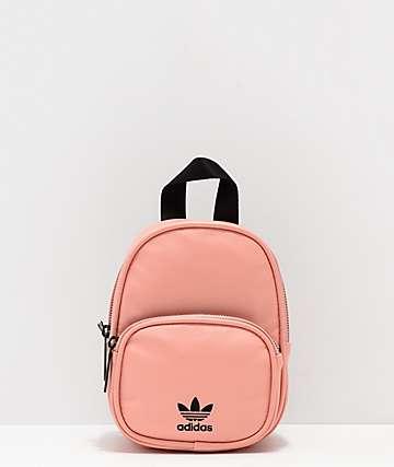 adidas mini mochila rosa de cuero sintético