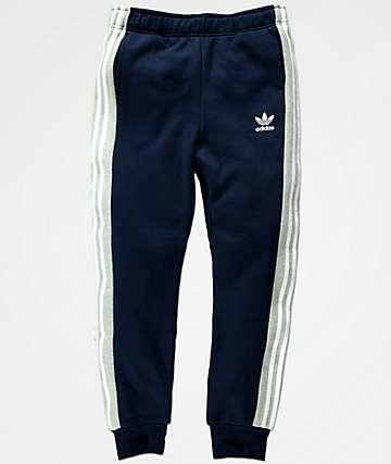 adidas pantalones de chándal y polar en azul marino para niños