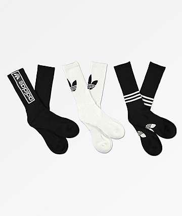 adidas paquete de 3 calcetines con logotipos