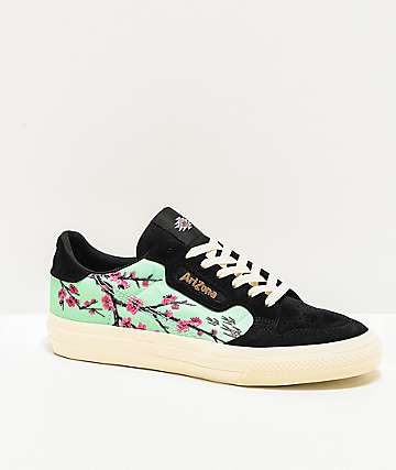 adidas x AriZona Tea Continental Vulc Green Tea Black & Teal Shoes