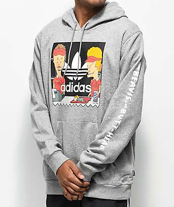 adidas x Beavis and Butthead Grey Hoodie